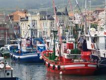 Vissende schepen Royalty-vrije Stock Afbeeldingen
