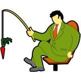 Vissende zakenman stock illustratie