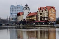 Vissendorp en het huis van Sovjets Stock Foto