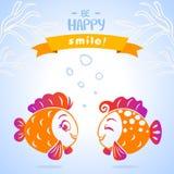 Vissenglimlach Royalty-vrije Stock Afbeelding