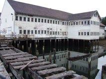 Vissenhuis op water Royalty-vrije Stock Foto's