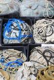 vissenkabel en netto stock afbeelding