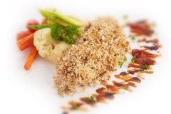 vissenlapje vlees Stock Foto
