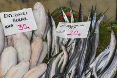 Vissenmarkt, Galata-waterkant, Istanboel Royalty-vrije Stock Fotografie