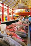 Vissenmarkt in Victoria, Seychellen Stock Foto
