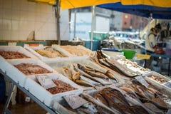 Vissenmarkt in Zuid-Italië Royalty-vrije Stock Foto's