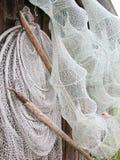 Vissennetten en Snoeken Polen Stock Afbeeldingen
