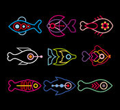 Vissenpictogram Royalty-vrije Stock Foto