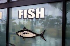 Vissenteken op een venster stock fotografie