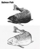 Vissenvector die met de hand trekken Royalty-vrije Stock Afbeelding