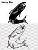 Vissenvector die met de hand trekken Royalty-vrije Stock Foto's