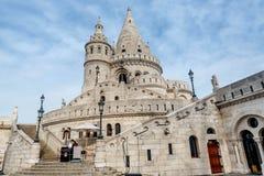 Visser Bastion, Buda Castle in Boedapest, Hongarije Royalty-vrije Stock Foto