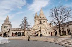Visser Bastion, Buda Castle in Boedapest, Hongarije Stock Afbeelding