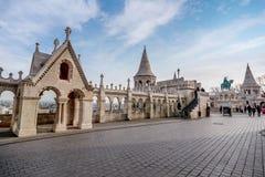 Visser Bastion, Buda Castle in Boedapest, Hongarije Royalty-vrije Stock Afbeeldingen