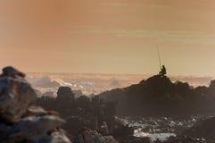 Visser bij Kaap Agulhas Royalty-vrije Stock Fotografie