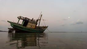 Visser Boat Royalty-vrije Stock Afbeeldingen