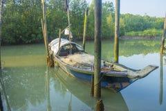 Visser Boat Stock Afbeelding