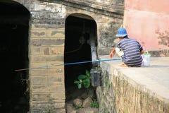 Visser - Hoi An - Vietnam Stock Foto