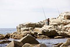 Visser op de kust van Tossa de Mar Royalty-vrije Stock Afbeeldingen