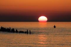 Visser op de Oostzeekust stock afbeelding