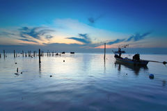 Visser op zee Royalty-vrije Stock Fotografie