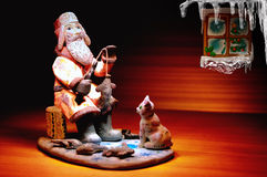 Visser - retro kaart voor Kerstmis Stock Afbeeldingen