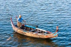 Visserij 1 December, 2013 in Mandalay. Stock Afbeelding