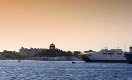 Visserij en veerboothaven in Hurghada, Egypte Royalty-vrije Stock Foto's