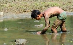 visserij in kinderen Stock Foto
