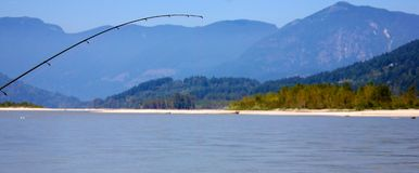 Visserij op Fraser River royalty-vrije stock foto's