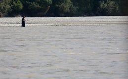 Visserij op Fraser River stock foto