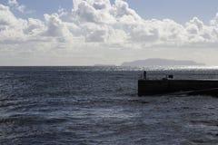 Visserij van de Machico-pijler in Madera Royalty-vrije Stock Foto's
