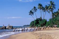 Visserij van het strand Stock Afbeelding