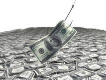 Visserij voor geld Stock Fotografie