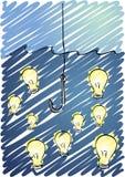 Visserij voor ideeën vector illustratie