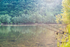 Visserijavonturen Karper visserij Royalty-vrije Stock Afbeelding