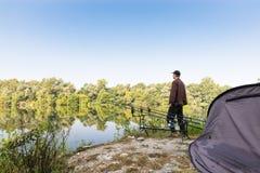 Visserijavonturen Karper visserij Stock Afbeeldingen