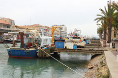 Visserijboten in Le Grau-du-Roi, Frankrijk Stock Foto's