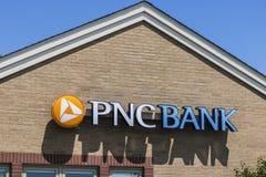 Vissers - Circa Mei 2017: NC banktak Financiële Kleinhandels, Collectieve de Dienstenaanbiedingen van PNC en Hypotheek die IX bel stock afbeelding