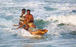Vissers die naar huis uit het overzees komen Royalty-vrije Stock Afbeeldingen