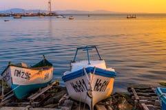 Vissers haven Stock Afbeeldingen