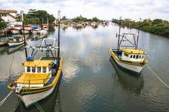 Vissers haven stock foto