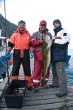 Vissers met grote vissen Royalty-vrije Stock Foto's
