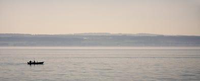 Vissers op het Meer van Konstanz Royalty-vrije Stock Afbeeldingen