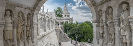 Vissers` s Bastion, Buda Castle, Boedapest Royalty-vrije Stock Fotografie