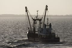 Vissersboot,渔船 免版税图库摄影