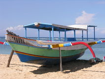 Vissersboot in Bali Stock Foto