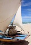Vissersboot in Brazilië Stock Foto