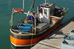 Vissersboot in Brighton, Engeland royalty-vrije stock afbeelding