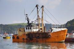 Vissersboot, Fowey Royalty-vrije Stock Afbeelding